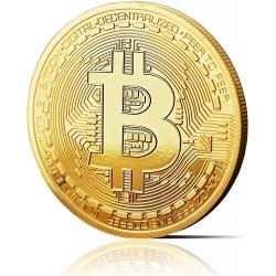 Bitcoin Münze, gold