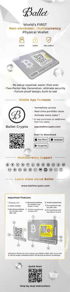 Ballet Real Bitcoin Hardware Wallet